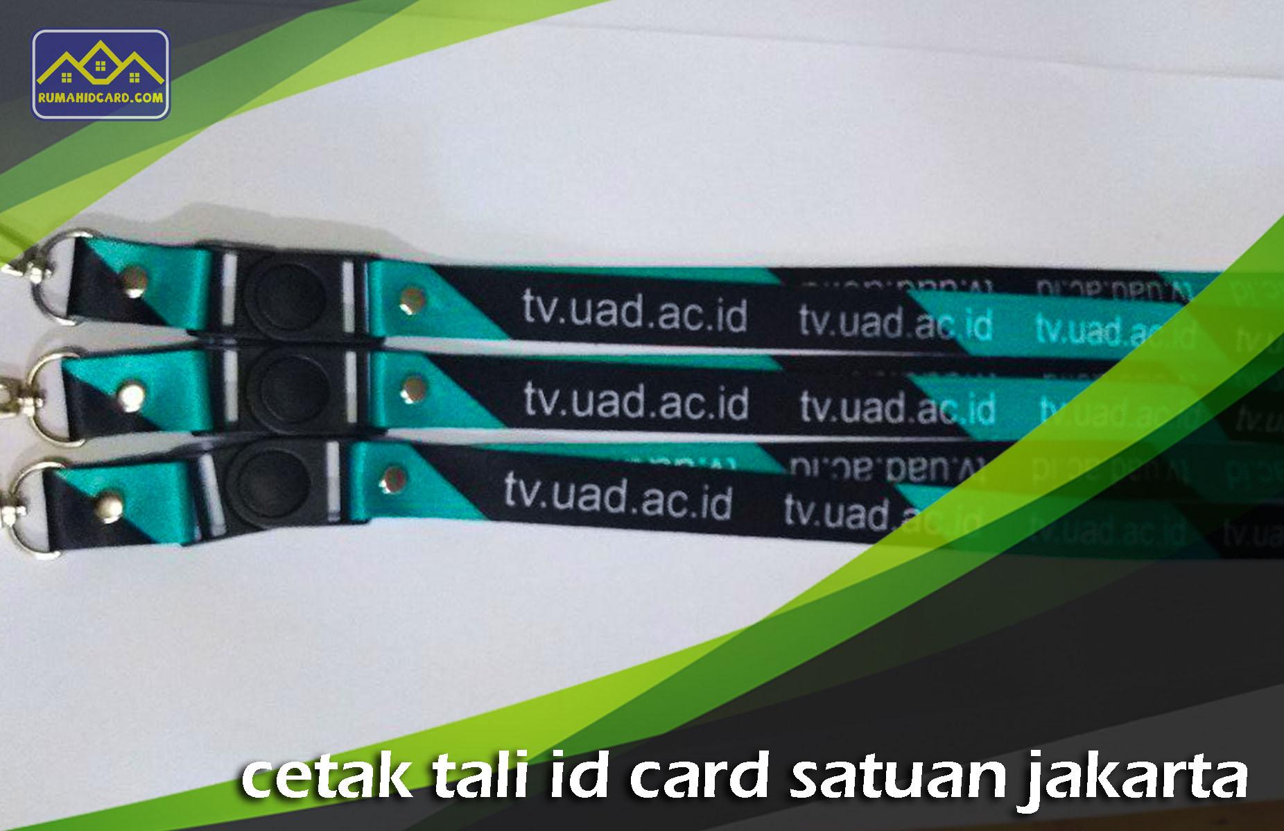 Cetak Tali ID Card Satuan Jakarta