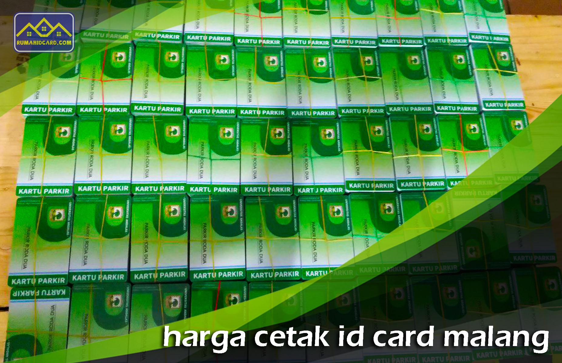Harga Cetak ID Card Malang