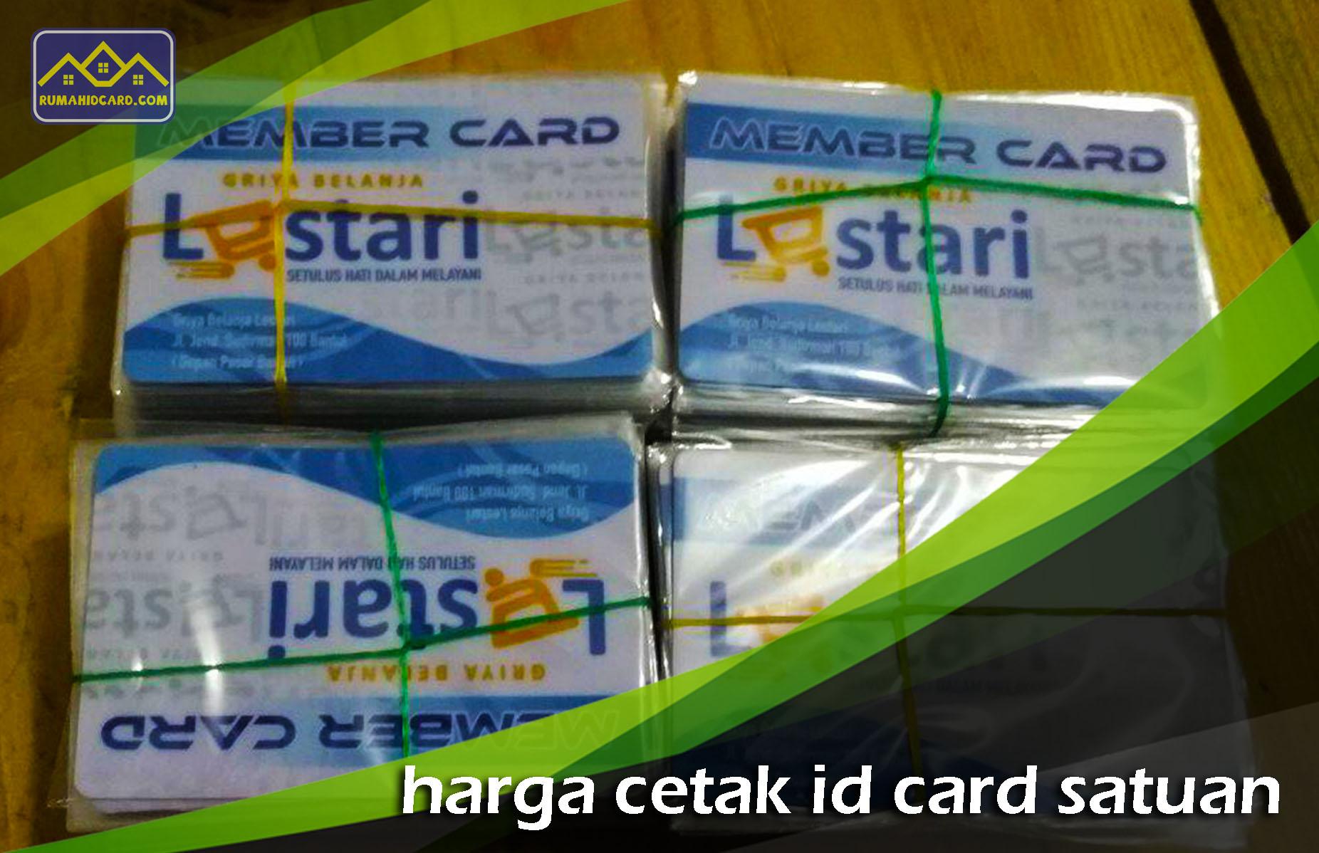 Harga Cetak ID Card Satuan