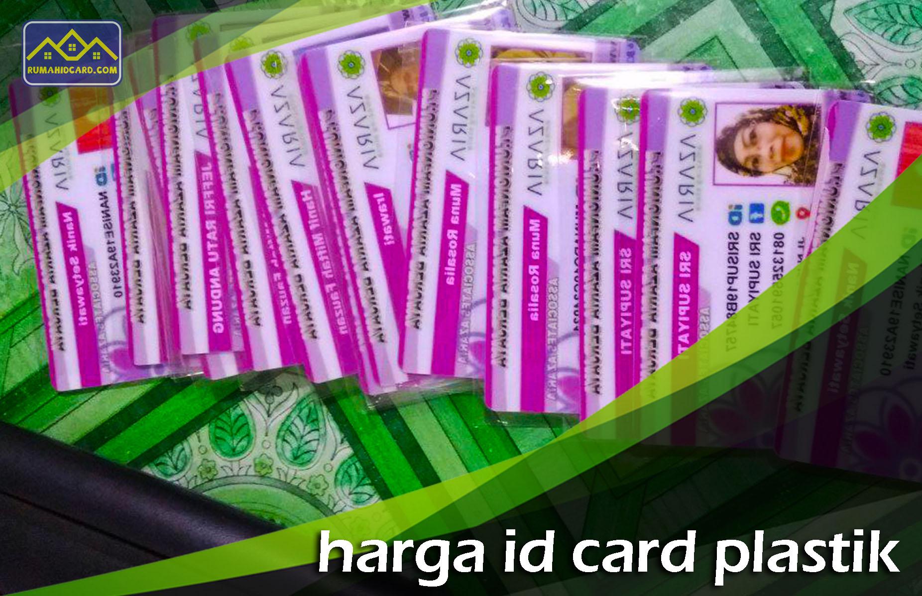 Harga Id Card Plastik